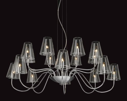 Firstlight 4235CH Chrome with Clear Glass Jasmine 16 Light Fitting